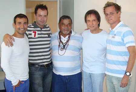 Bira, Fran Sérgio, Laíla, Roberto Carlos e Alexandre Louzada