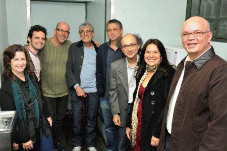 Regina Lucatto, Marcelo Caldi, Paulo Malaguti Pauleira, Magro, Ze Renato, Tim Rescala, Crismarie Hackenberg e Carlos Belém