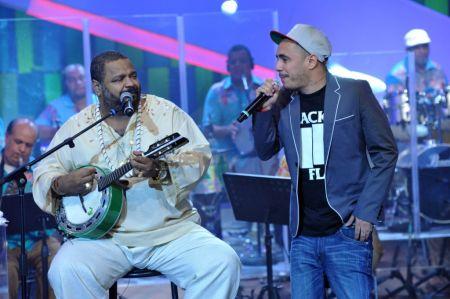 Arlindo Cruz e Marcelo D2 em foto de Alex Carvalho