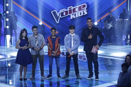 Juan Carlos Poca e Giulia Soncini, do Time de Victor & Leo, seguem no The Voice Kids